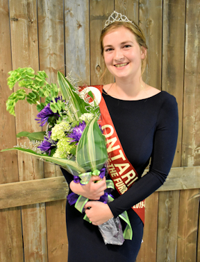Ontario Queen of the Furrow Heidi Frey