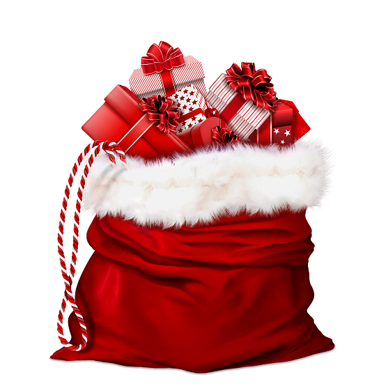 Bag of Santa gifts