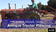 Antique Tractor Plowing