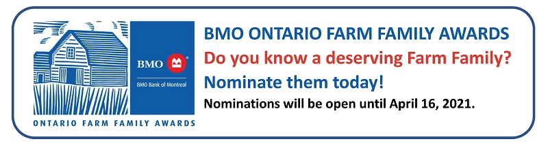 BMO Ontario Farm Family Awards Button